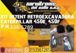 KIT DETENT RETROEXCAVADORA CATERPILLAR REF 450E, 450F.