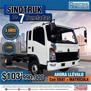 SINOTRUK DE 7 TONELADAS