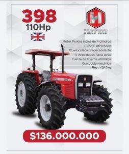 Se vende Tractor 398 Hattat