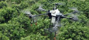 FUMIGACIÓN CON  DRONES DJI AGRAS T-16