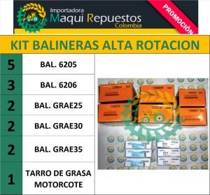KIT BALINERAS ALTA ROTACIÓN