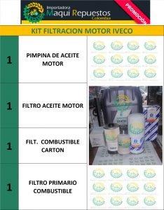 KIT FILTRACION MOTOR IVECO