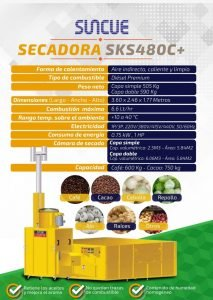 Secadora de grano marca SUNCUE SKS480C+