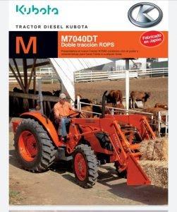 Tractor Agrícola marca kubota M-7040DT