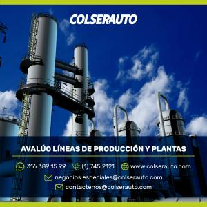 Avalúo Equipos de producción y plantas