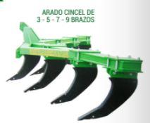ARADO CINCEL DE 3 – 5 – 7 – 9 BRAZOS