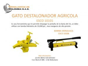 GATO DESTALONADOR AGRICOLA  ESCO 10101